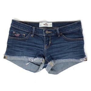 Hollister Cuffed Frayed Denim Shorts